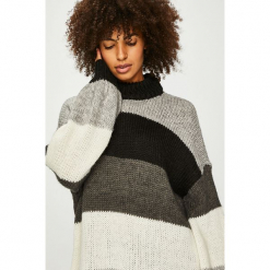 Vero Moda - Sweter. Szare swetry damskie Vero Moda, z dzianiny. Za 169.90 zł.