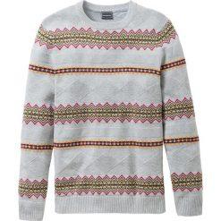 Sweter Regular Fit bonprix jasnoszary melanż. Swetry przez głowę męskie marki Giacomo Conti. Za 49.99 zł.