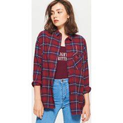 Koszula w kratę - Bordowy. Czerwone koszule damskie Cropp. W wyprzedaży za 29.99 zł.