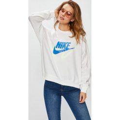 Nike Sportswear - Bluza. Szare bluzy damskie Nike Sportswear, z nadrukiem, z bawełny. W wyprzedaży za 239.90 zł.