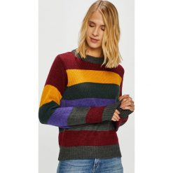Only - Sweter Dina. Brązowe swetry damskie Only, z dzianiny, z okrągłym kołnierzem. Za 169.90 zł.