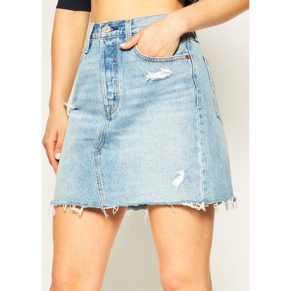 Levi's Spódnica jeansowa niebieski  