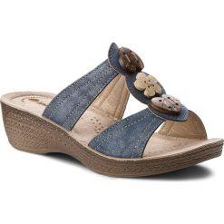 Klapki INBLU - GLAQOO06 Granatowy. Niebieskie klapki damskie Inblu, z materiału. Za 69.99 zł.