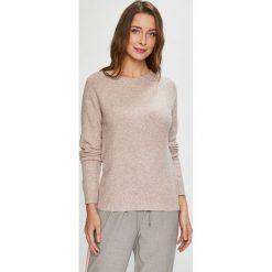 Vero Moda - Sweter. Szare swetry damskie Vero Moda, z dzianiny, z okrągłym kołnierzem. W wyprzedaży za 69.90 zł.
