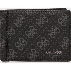 Guess Jeans - Portfel skórzany. Czarne portfele męskie Guess Jeans, z aplikacjami, z jeansu. Za 229.90 zł.