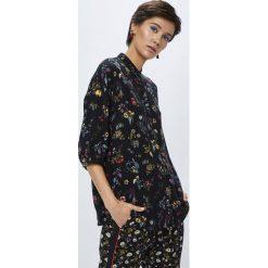 Medicine - Koszula Secret Garden. Czarne koszule damskie MEDICINE, z tkaniny, casualowe, z długim rękawem. W wyprzedaży za 49.90 zł.