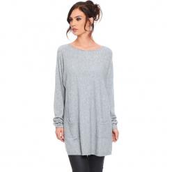 """Sweter """"Marlone"""" w kolorze szarym. Szare swetry damskie Cosy Winter, ze splotem, z okrągłym kołnierzem. W wyprzedaży za 181.95 zł."""