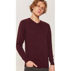 Sweter basic - Bordowy. Czerwone swetry przez głowę męskie House. Za 79.99 zł.