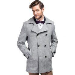 Płaszcz OLIVIERO PSPE000010. Brązowe płaszcze męskie Giacomo Conti, eleganckie. Za 799.00 zł.