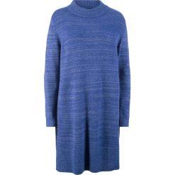 Sukienka z połyskiem i stójką bonprix szafirowy. Niebieskie sukienki damskie bonprix, ze stójką. Za 89.99 zł.