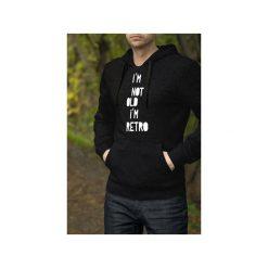 I'm not old męska czarna bluza z kapturem. Czarne bluzy męskie One mug a day, z bawełny. Za 179.00 zł.
