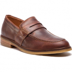 Półbuty CLARKS - Clarkdale Flow 261317537  Mahogany Leather. Brązowe półbuty na co dzień męskie Clarks, z materiału. W wyprzedaży za 339.00 zł.