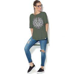 Colour Pleasure Koszulka CP-033  208 zielona r. uniwersalny. Bluzki damskie marki Colour Pleasure. Za 76.57 zł.