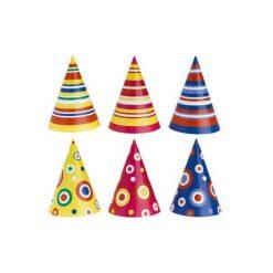 Kapelusz mini różne wzory + EKSPRESOWA DOSTAWA W 24H. Szare czapki dla dzieci AMSCAN. Za 0.80 zł.