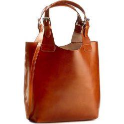 Torebka CREOLE - RBI117  Koniak. Brązowe torby na ramię damskie Creole. W wyprzedaży za 269.00 zł.