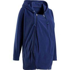 Bluza z polaru ciążowa, z wstawką niemowlęcą bonprix kobaltowy. Bluzy dla niemowląt bonprix, z polaru. Za 129.99 zł.