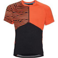 Odlo Koszulka rowerowa Shirt s/s 1/2 zip Morzine czarno-pomarańczowa r. L (411492). T-shirty i topy dla dziewczynek Odlo. Za 176.53 zł.