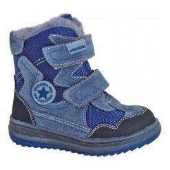 Protetika Buty Zimowe Za Kostkę Chłopięce Riki 21 Szary/Niebieski. Niebieskie buty zimowe chłopięce Protetika, z futra. Za 175.00 zł.