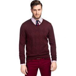 Sweter DARIO SWT000057. Brązowe swetry przez głowę męskie Giacomo Conti, na jesień, z wełny. Za 229.00 zł.