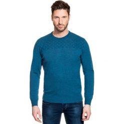 Sweter PIETRO SWZ000075. Brązowe swetry przez głowę męskie Giacomo Conti, na jesień, z wełny. Za 299.00 zł.