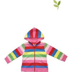 Bluza w kolorze jasnoróżowym ze wzorem. Czerwone bluzy dla niemowląt Toby Tiger, w paski, z bawełny. W wyprzedaży za 129.95 zł.