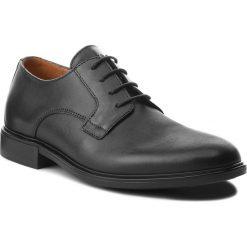 Półbuty TOMMY HILFIGER - Color Block Heel Leather Shoe FM0FM01616  Black 990. Czarne eleganckie półbuty Tommy Hilfiger, z materiału. W wyprzedaży za 449.00 zł.