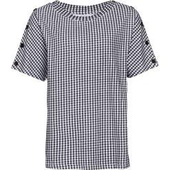T-shirt bonprix czarno-biały w kratę. T-shirty damskie marki DOMYOS. Za 21.99 zł.