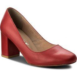 Półbuty OLEKSY - 236/230 Czerwony. Czerwone półbuty damskie Oleksy, ze skóry. W wyprzedaży za 189.00 zł.