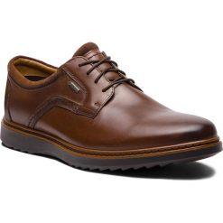 Półbuty CLARKS - Un Geo LaceGtx GORE-TEX 261380417 Brown Leather. Brązowe eleganckie półbuty Clarks, z gore-texu. W wyprzedaży za 409.00 zł.