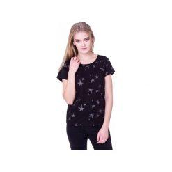 T-shirt Nocne Gwiazdy. Czarne koszule nocne damskie Heroesque, z okrągłym kołnierzem. Za 59.00 zł.