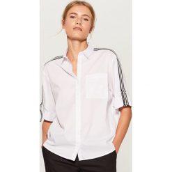 Koszula z taśmami - Biały. Białe koszule damskie Mohito. Za 89.99 zł.