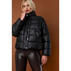 NA-KD Trend Kurtka skórzana Padded - Black. Czarne kurtki damskie NA-KD Trend, z materiału. Za 364.95 zł.