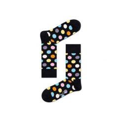 Skarpetki Happy Socks - Big Dot (BD01-099). Szare skarpety męskie Happy Socks, w kolorowe wzory, z bawełny. Za 34.90 zł.