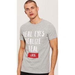 T-shirt z napisem - Szary. Szare t-shirty męskie House, z napisami. Za 39.99 zł.