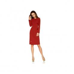 Elegancka sukienka biznesowa L274. Czerwone sukienki damskie Lemoniade, na jesień, biznesowe, z okrągłym kołnierzem, z długim rękawem. Za 179.90 zł.