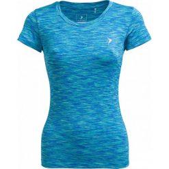 Koszulka treningowa damska TSDF600 - multikolor melanż - Outhorn. Niebieskie bluzki damskie Outhorn, melanż, z materiału. W wyprzedaży za 29.99 zł.