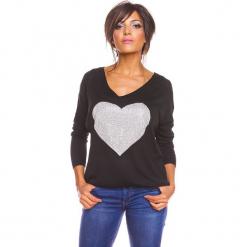 """Sweter """"Stef"""" w kolorze czarnym. Czarne swetry damskie So Cachemire, z kaszmiru, z okrągłym kołnierzem. W wyprzedaży za 165.95 zł."""