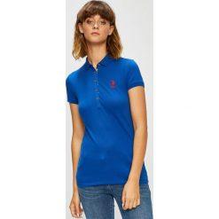U.S. Polo - Top. Szare topy damskie U.S. Polo, z bawełny, polo, z krótkim rękawem. W wyprzedaży za 139.90 zł.