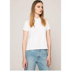 Calvin Klein Jeans - Top. Szare topy damskie Calvin Klein Jeans, z bawełny, z krótkim rękawem. W wyprzedaży za 139.90 zł.