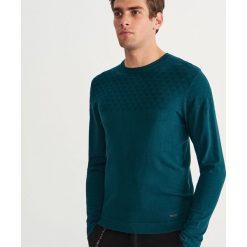 Sweter z okrągłym dekoltem - Turkusowy. Niebieskie swetry przez głowę męskie Reserved, z okrągłym kołnierzem. Za 119.99 zł.