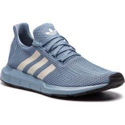 Buty adidas - Swift Run D96642 Rawgre/Chapea/Cblack. Niebieskie buty sportowe męskie Adidas, z materiału. W wyprzedaży za 269.00 zł.