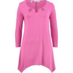 Tunika shirtowa, rękawy 3/4 bonprix lila - różowy. Czerwone tuniki damskie bonprix. Za 89.99 zł.