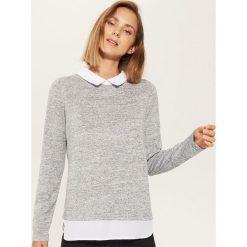 Sweter z koszulą - Szary. Szare koszule damskie House. Za 49.99 zł.