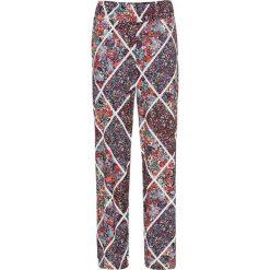 Spodnie z dżerseju bonprix niebieski z nadrukiem. Spodnie materiałowe damskie marki DOMYOS. Za 44.99 zł.
