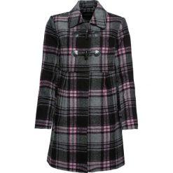 Płaszcz budrysówka bonprix różowobrązowo-szary w kratę. Płaszcze damskie marki FOUGANZA. Za 109.99 zł.