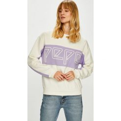 Pepe Jeans - Bluza Gracy. Szare bluzy damskie Pepe Jeans, z nadrukiem, z bawełny. Za 299.90 zł.