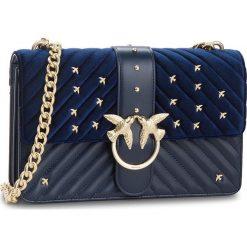 Torebka PINKO - Big Love Tracolla AI 18-19 PLTT 1P217R Y514 Dark Blue G56. Niebieskie torebki do ręki damskie Pinko, ze skóry. Za 1,469.00 zł.