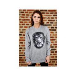 Bluza UNDERWORLD casual Lion. Szare bluzy męskie Underworld, z nadrukiem, z bawełny. Za 119.99 zł.