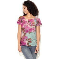 Colour Pleasure Koszulka CP-034 221 zielono-różowa r. XS/S. Bluzki damskie marki Colour Pleasure. Za 70.35 zł.