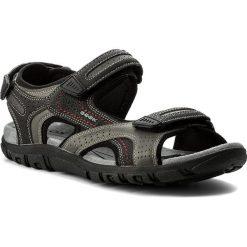 Sandały GEOX - U S.Strada D U8224D 0BC50 C0043 Grey/Black. Szare sandały męskie Geox, z materiału. W wyprzedaży za 199.00 zł.